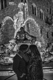 Firenze, Fontana del Nettuno...Baciarsi con le mani in Tasca......