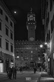 Firenze Palazzo Vecchio con Luna Piena