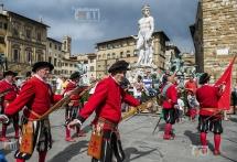 Firenze, Corteo Storico in Piazza Della Signoria