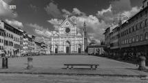 Firenze, Piazza Santa Croce ore 17 (Città Fantasma, Post Covid)