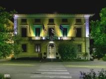 Montespertoli, Palazzo Comunale con luci verdi 20-11-200