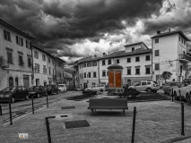Montespertoli, Piazza Dei Machiavelli, Nubi nere su.......