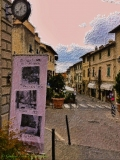Montespertoli Via Roma Acquarelli digitali