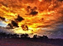 Montespertoli, Via della Leccia tramonto