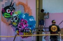Montespertoli Murales Casa del Popolo....Attenti anon cadere