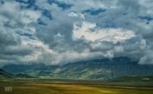 Castelluccio di Norcia, la Valle i Monti, le Nubi