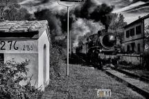 Siena, Treno a Vapore KM 276,235 Marciapiede per Asciano Siena